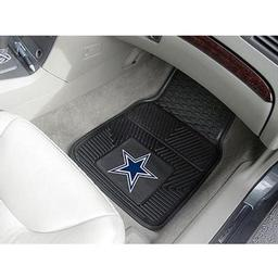 "Click here to learn more about the Dallas Cowboys Heavy Duty 2-Piece Vinyl Car Mats 17""x27""."