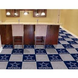 "Click here to learn more about the Dallas Cowboys Carpet Tiles 18""x18"" tiles."