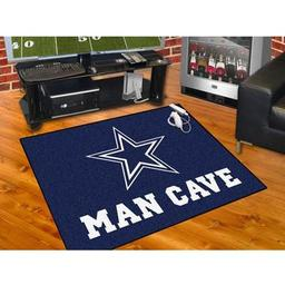 "Click here to learn more about the Dallas Cowboys Man Cave All-Star Mat 33.75""x42.5""."