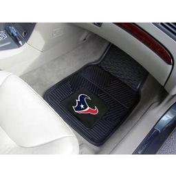"Click here to learn more about the Houston Texans Heavy Duty 2-Piece Vinyl Car Mats 17""x27""."