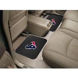 "Click here to learn more about the Houston Texans Backseat Utility Mats 2 Pack 14""x17""."