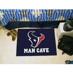 "Click here to learn more about the Houston Texans Man Cave Starter Rug 19""x30""."