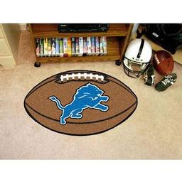 "Click here to learn more about the Detroit Lions Football Rug 20.5""x32.5""."