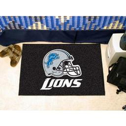 "Click here to learn more about the Detroit Lions Starter Rug 20""x30""."