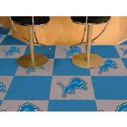 "Click here to learn more about the Detroit Lions Carpet Tiles 18""x18"" tiles."