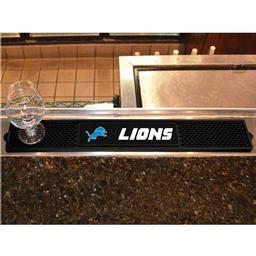 "Click here to learn more about the Detroit Lions Drink Mat 3.25""x24""."