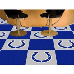 "Click here to learn more about the Indianapolis Colts Carpet Tiles 18""x18"" tiles."