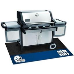 "Click here to learn more about the Indianapolis Colts Grill Mat 26""x42""."