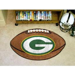 "Click here to learn more about the Green Bay Packers Football Rug 20.5""x32.5""."