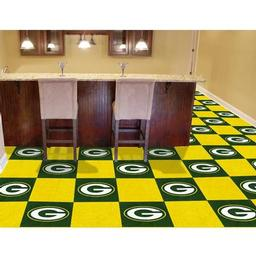 "Click here to learn more about the Green Bay Packers Carpet Tiles 18""x18"" tiles."