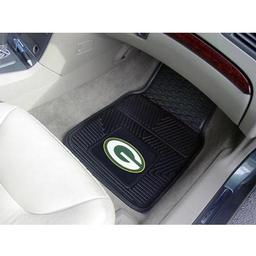 "Click here to learn more about the Green Bay Packers Heavy Duty 2-Piece Vinyl Car Mats 17""x27""."