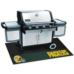 "Click here to learn more about the Green Bay Packers Grill Mat 26""x42""."