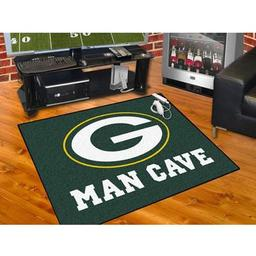 "Click here to learn more about the Green Bay Packers Man Cave All-Star Mat 33.75""x42.5""."
