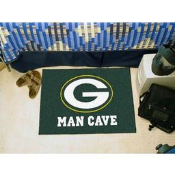 "Click here to learn more about the Green Bay Packers Man Cave Starter Rug 19""x30""."