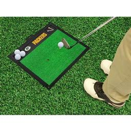 "Click here to learn more about the Green Bay Packers Golf Hitting Mat 20"" x 17""."