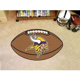 "Click here to learn more about the Minnesota Vikings Football Rug 20.5""x32.5""."