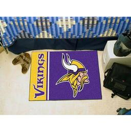"Click here to learn more about the Minnesota Vikings Uniform Inspired Starter Rug 20""x30""."
