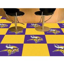 "Click here to learn more about the Minnesota Vikings Carpet Tiles 18""x18"" tiles."