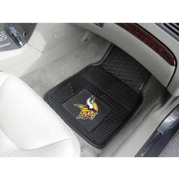 "Click here to learn more about the Minnesota Vikings Heavy Duty 2-Piece Vinyl Car Mats 17""x27""."