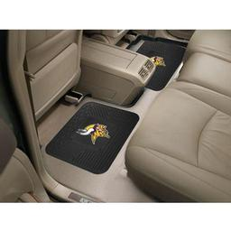"Click here to learn more about the Minnesota Vikings Backseat Utility Mats 2 Pack 14""x17""."