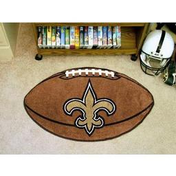 "Click here to learn more about the New Orleans Saints Football Rug 20.5""x32.5""."
