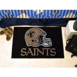 "Click here to learn more about the New Orleans Saints Starter Rug 20""x30""."