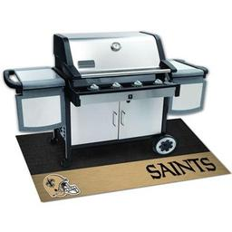 "Click here to learn more about the New Orleans Saints Grill Mat 26""x42""."