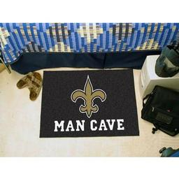 "Click here to learn more about the New Orleans Saints Man Cave Starter Rug 19""x30""."