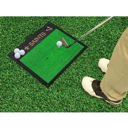"Click here to learn more about the New Orleans Saints Golf Hitting Mat 20"" x 17""."