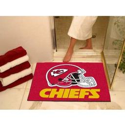 "Click here to learn more about the Kansas City Chiefs All-Star Mat 33.75""x42.5""."