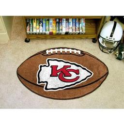 "Click here to learn more about the Kansas City Chiefs Football Rug 20.5""x32.5""."