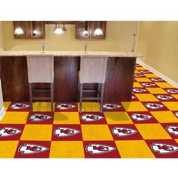 "Click here to learn more about the Kansas City Chiefs Carpet Tiles 18""x18"" tiles."