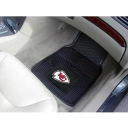 "Click here to learn more about the Kansas City Chiefs Heavy Duty 2-Piece Vinyl Car Mats 17""x27""."