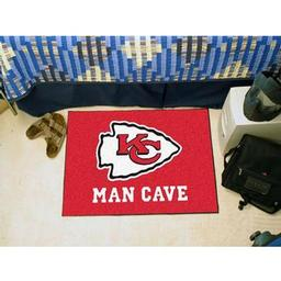 "Click here to learn more about the Kansas City Chiefs Man Cave Starter Rug 19""x30""."