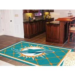 Click here to learn more about the Miami Dolphins Rug 5''x8''.