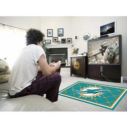 Click here to learn more about the Miami Dolphins Rug 4''x6''.