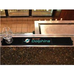 "Click here to learn more about the Miami Dolphins Drink Mat 3.25""x24""."