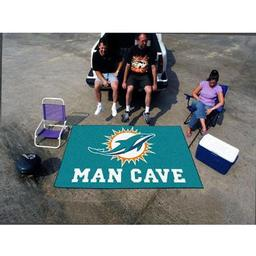 Click here to learn more about the Miami Dolphins Man Cave UltiMat Rug 5''x8''.