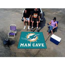 Click here to learn more about the Miami Dolphins Man Cave Tailgater Rug 5''x6''.