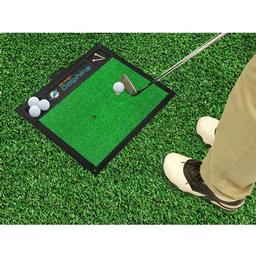 "Click here to learn more about the Miami Dolphins Golf Hitting Mat 20"" x 17""."