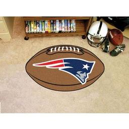 "Click here to learn more about the New England Patriots Football Rug 20.5""x32.5""."