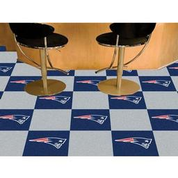"Click here to learn more about the New England Patriots Carpet Tiles 18""x18"" tiles."