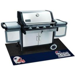 "Click here to learn more about the New England Patriots Grill Mat 26""x42""."