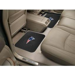 "Click here to learn more about the New England Patriots Backseat Utility Mats 2 Pack 14""x17""."