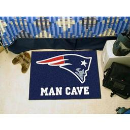"Click here to learn more about the New England Patriots Man Cave Starter Rug 19""x30""."