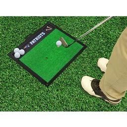 "Click here to learn more about the New England Patriots Golf Hitting Mat 20"" x 17""."