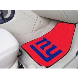 "Click here to learn more about the New York Giants 2-piece Carpeted Car Mats 17""x27""."