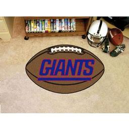 "Click here to learn more about the New York Giants Football Rug 20.5""x32.5""."