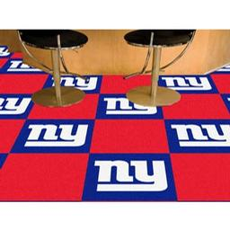 "Click here to learn more about the New York Giants Carpet Tiles 18""x18"" tiles."