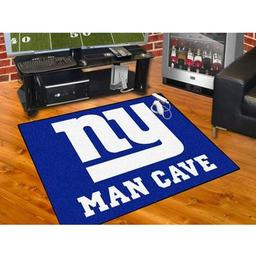 "Click here to learn more about the New York Giants Man Cave All-Star Mat 33.75""x42.5""."